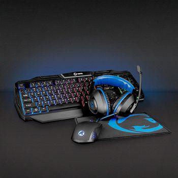 GCK41100BKFR Gaming combo kit | 4-in-1 | toetsenbord, koptelefoon, muis en muismat | zwart/blauw | azerty | frans