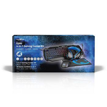 GCK41100BKUS Gaming combo kit   4-in-1   toetsenbord, koptelefoon, muis en muismat   blauw / zwart   qwerty   us   foto