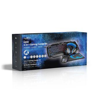 GCK41100BKUS Gaming combo kit   4-in-1   toetsenbord, koptelefoon, muis en muismat   blauw / zwart   qwerty   us  Verpakking foto