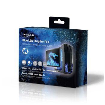 GCLD04BU Led-lichtstrip voor gaming   blauw   40 cm   gevoed over sata   desktop-pc Verpakking foto