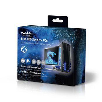 GCLD04BU Led-lichtstrip voor gaming | blauw | 40 cm | gevoed over sata | desktop-pc Verpakking foto