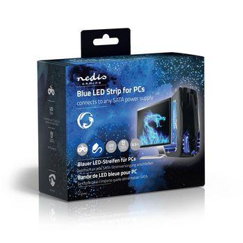 GCLD05BU Led-lichtstrip voor gaming | blauw | 50 cm | gevoed over sata | desktop-pc Verpakking foto