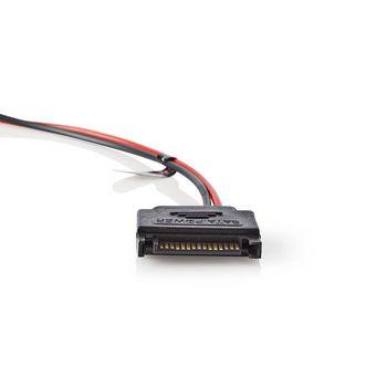 GCLD10BU Led-lichtstrip voor gaming | blauw | 100 cm | gevoed over sata | desktop-pc In gebruik foto