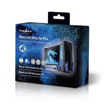 GCLD10BU Led-lichtstrip voor gaming | blauw | 100 cm | gevoed over sata | desktop-pc Verpakking foto