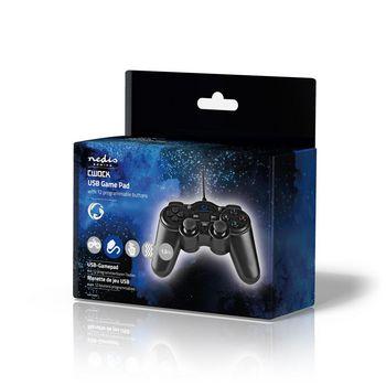 GGPD100BK Gamepad | usb type-a | usb gevoed | pc | aantal knoppen: 12 | kabellengte: 1.50 m | zwart Verpakking foto