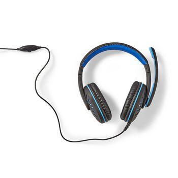 GHST100BK Gamingheadset | over-ear | microfoon | 3,5 mm connectoren In gebruik foto