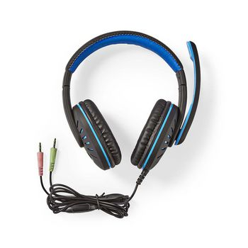 GHST100BK Gaming headset | over-ear | stereo | 2x 3.5 mm | opvouwbare microfoon | 2.20 m | normale verlichting Inhoud verpakking foto