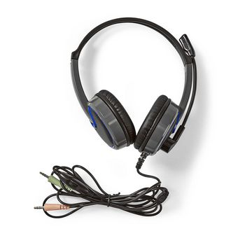 GHST200BK Gaming headset | over-ear | stereo | 2x 3.5 mm | opvouwbare microfoon | 2.20 m | normale verlichting Inhoud verpakking foto