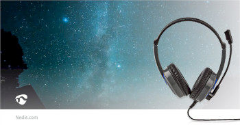 GHST200BK Gaming headset   over-ear   stereo   2x 3.5 mm   opvouwbare microfoon   2.20 m   normale verlichting Product foto