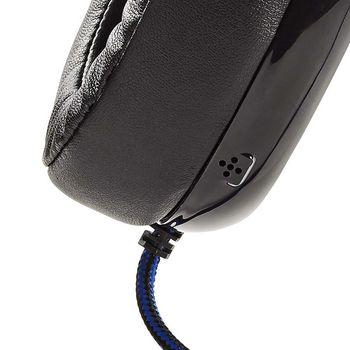 GHST300BK Gaming headset | over het oor | ultra bass | led-lampje | 3,5 mm- en usb-stekkers Product foto