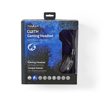 GHST400BK Gamingheadset | over-ear | force-feedback | led-verlichting | 3,5-mm & usb-connectoren Verpakking foto