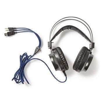 GHST400BK Gamingheadset | over-ear | force-feedback | led-verlichting | 3,5-mm & usb-connectoren Inhoud verpakking foto