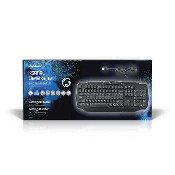 GKBD100BKFR Bedraad gamingtoetsenbord | usb 2.0 | franse indeling | zwart  foto