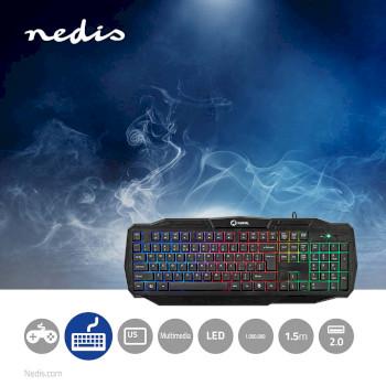 GKBD100BKUS Bedraad gamingtoetsenbord | usb 2.0 | amerikaanse internationale indeling | zwart Product foto
