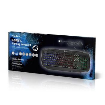 GKBD100BKUS Bedraad gamingtoetsenbord | usb 2.0 | amerikaanse internationale indeling | zwart Verpakking foto
