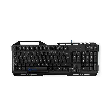 GKBD200BKDE Gaming-toetsenbord   rgb-verlichting   usb 2.0   duitse indeling   metalen design Product foto