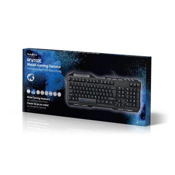 GKBD200BKDE Gaming-toetsenbord   rgb-verlichting   usb 2.0   duitse indeling   metalen design Verpakking foto