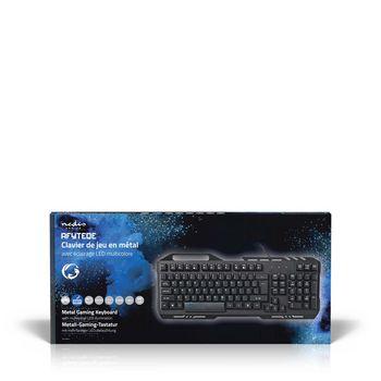GKBD200BKFR Gaming-toetsenbord | rgb-verlichting | usb 2.0 | franse indeling | metalen design Verpakking foto