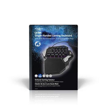 GKBD300BK Single-handed gamingkeyboard   rgb-verlichting   33 programmeerbare toetsen  foto