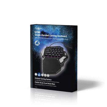 GKBD300BK Single-handed gamingkeyboard   rgb-verlichting   33 programmeerbare toetsen Verpakking foto