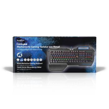 GKBD400BKDE Mechanisch gamingtoetsenbord | rgb-verlichting | duits | metalen design  foto