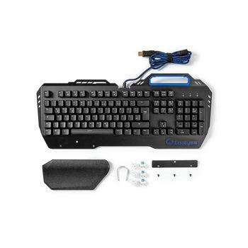 GKBD400BKDE Mechanisch gamingtoetsenbord | rgb-verlichting | duits | metalen design Inhoud verpakking foto