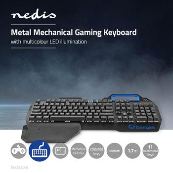 GKBD400BKUS Mechanisch gamingtoetsenbord | rgb-verlichting | us internationaal | metalen design Product foto
