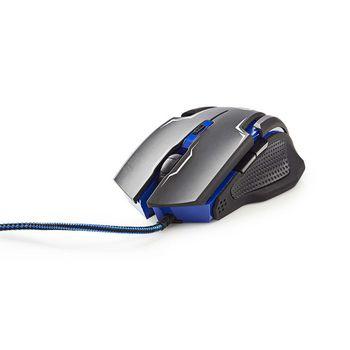 GMMP200BK Gaming-set muis en muismat | bedrade muis | 2400 dpi | 7 knoppen Product foto
