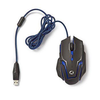 GMMP200BK Gaming-set muis en muismat | bedrade muis | 2400 dpi | 6 knoppen Product foto