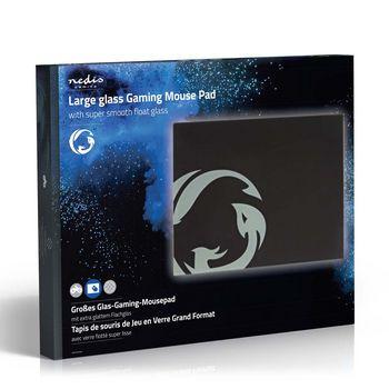 GMPDG100BK Gaming-muismat | superglad enkellaags glas | 400 x 300 mm Verpakking foto
