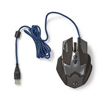 GMWD200BK Gaming-muis   bedraad   verlicht   2400 dpi   7 knoppen Product foto