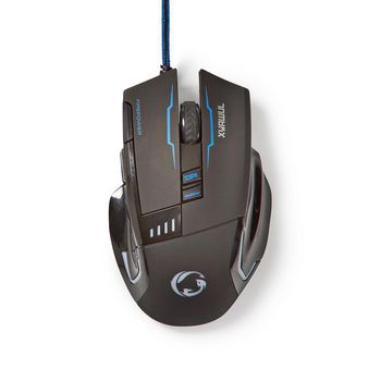 GMWD300BK Gaming-muis | bedraad | verlicht | 4000 dpi | 8 knoppen Product foto