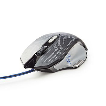 GMWD400BK Gaming-muis | bedraad | verlicht | 4000 dpi | 9 knoppen Product foto