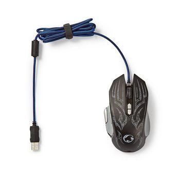 GMWD400BK Gaming-muis | bedraad | verlicht | 4000 dpi | 9 knoppen Inhoud verpakking foto