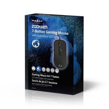 GMWD401BK Gaming-muis | met kabel | rgb verlicht | 4000 dpi | 7 knoppen Verpakking foto