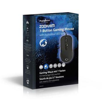 GMWD401BK Gaming-muis   met kabel   rgb verlicht   4000 dpi   7 knoppen Verpakking foto