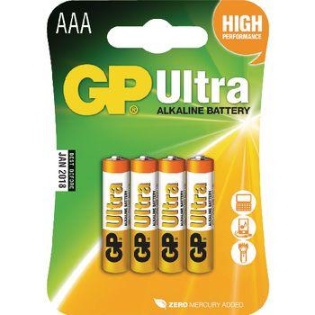 GPB1012 Alkaline batterij aaa 1.5 v ultra 4-blister Verpakking foto