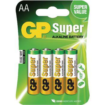 GPB1022 Alkaline batterij aa 1.5 v super 4-blister Verpakking foto