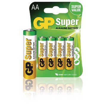GPB1022 Alkaline batterij aa 1.5 v super 4-blister
