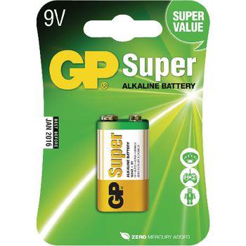GPB1025 Alkaline batterij 9 v super 1-blister Verpakking foto