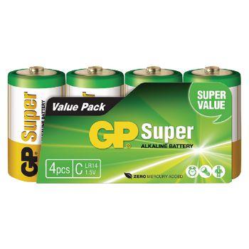 GPB1030 Alkaline batterij c 1.5 v super 4-pack Product foto