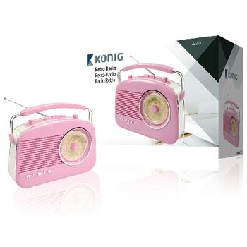 HAV-TR710PI Draagbare fm-radio fm / am roze