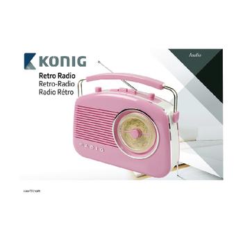 HAV-TR710PI Draagbare fm-radio fm / am roze Verpakking foto