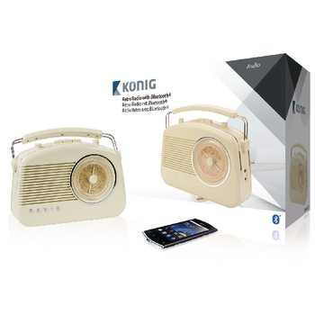 HAV-TR800BE Draagbare bluetooth radio fm / am aux beige