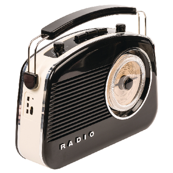 HAV-TR800BL Draagbare bluetooth radio am / fm aux zwart Verpakking foto
