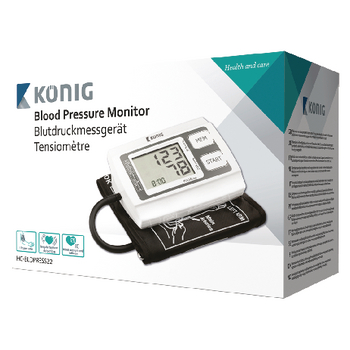 HC-BLDPRESS22 Bloeddrukmeter bovenarm wit/zwart Verpakking foto