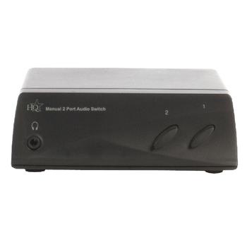 HQSW-AV100 Luidsprekerschakelaar 2x (2x rca female) - 2x rca female zwart Product foto