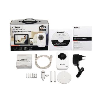 IC-3116W Hd ip-camera binnen 1280x720 wit/zwart Inhoud verpakking foto