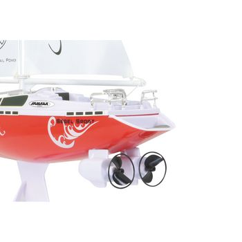 JAM-040250 R/c-boot zeilboot atlantique rtr rood In gebruik foto