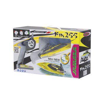 JAM-040630 R/c-boot fin255 rtr 2.4 ghz control geel Verpakking foto